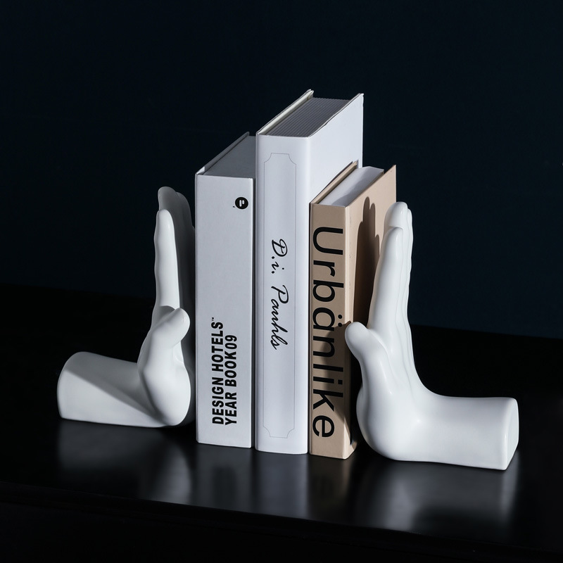 (Tiếng Việt) Hand Bookend (white)