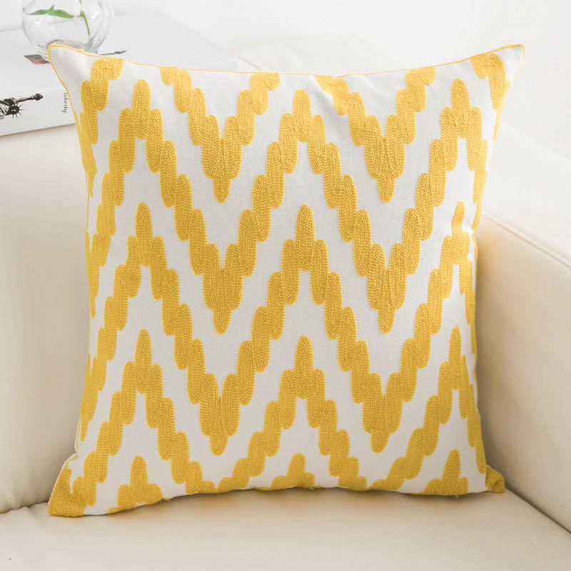 Chevron Embroidered Pillowcase